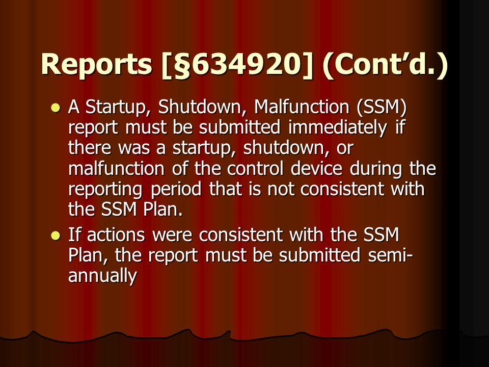 Reports [§634920] (Cont'd.)